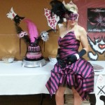 Hot Pink & Black Custom Venetian Feather Mask, 30th Birthday