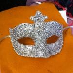 bespoke silver beaded embellished venetian masquerade mask