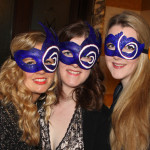 custom logo blue masquerade masks for BAA