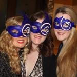 custom logo blue masquerade masks for BAA