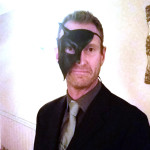 mens devil half phantom leather masquerade mask customer image