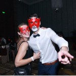 couples red leather devil masquerade party masks