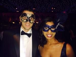 custom midnight blue masquerade mask