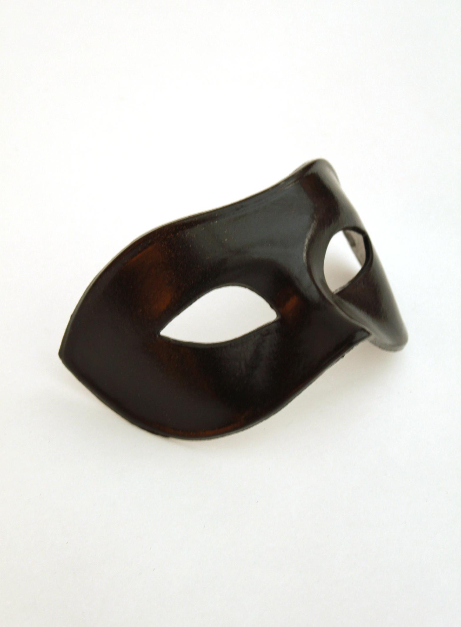 Men s plain luxury venetian black masquerade mask