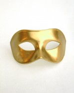 Men's Plain Venetian Gold Masquerade Mask
