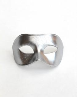 Mens Plain Venetian Silver Masquerade Mask