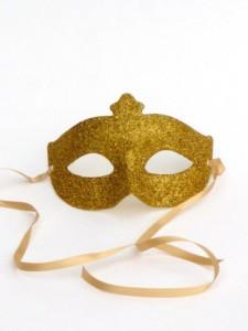 Venetian Gold Glitter Mask