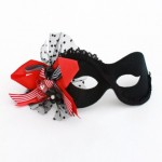 Red and Black Bow Eye Mask