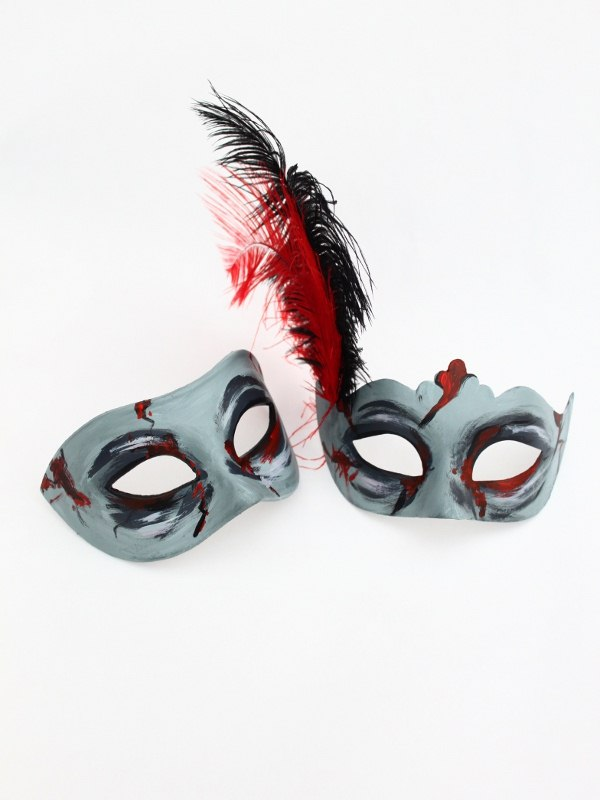Zombie Couple's Venetian Masks Halloween