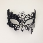 12. Custom Metal mask with lace sides