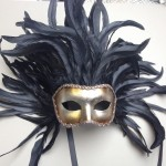 78. large feather venetian mask