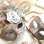 119. Champagne Gold, Nude & Teal Couple's Matching Masks