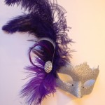 9. silver & purple feather venetian mask
