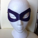 68. custom purple leather riddler eye mask