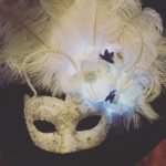 104. Bridal White, Ivory & Black Bellezza Light Up Mask