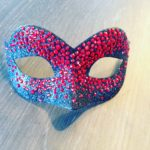 116. Red Swarovski Crystal & Black Petite Masquerade Eye Mask