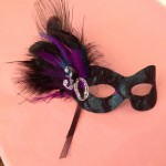 13. 30th birthday mask, teal & black