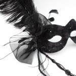 30. all black lace stick mask
