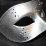 21. Men's Silver & Blue Jewelled Mask