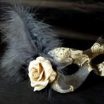 22. Black & Gold silk mask