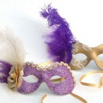 23. Purple & Gold masquerade masks