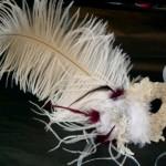 24. Bridal Ivory & Burgundy Lace Mask