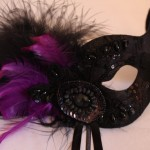 51.beaded black & purple eye mask