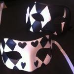 47. painted black & white harlequin masks