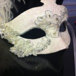 33. bridal lace mask with crystals