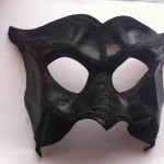 34. handmade leather Damon mask