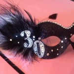 40. 30th Birthday silver & black mask