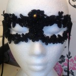 42. all beaded embellished lace eye mask