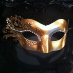 49. gold filigree venetian mask
