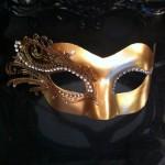 49. gold filigree venetian mask