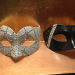 110. couture silver & gold Swarovski Crystal Luxury Couple's Masks