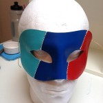 50. blue & red BMW theme mask