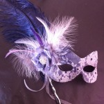 36. soft purple & silver lace mask