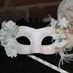 56 (b) vintage style bridal stick mask