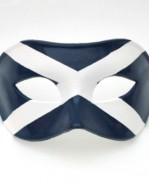 Men's Venetian Mask with Scottish Flag