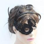 37. one eye black lace mask