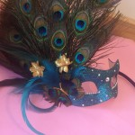 3.Peacock Butterfly feather mask