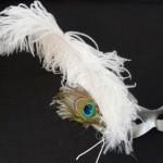 26. silver & white peacock eye mask
