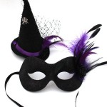 52. halloween witch purple & black eye mask