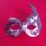 38. silver beaded lace eye mask