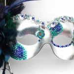 39. jewelled peacock eye mask