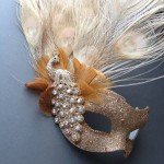 70. Mixed gold tone luxury peacock mask