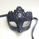 72. Black ornate lace mask