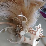 75. Gold & Ivory Wedding Masquerade Mask