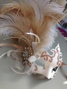 75. Gold & Ivory Wedding Masquerade Mask