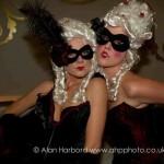 Black & Burgundy Feather Masquerade Eye Mask